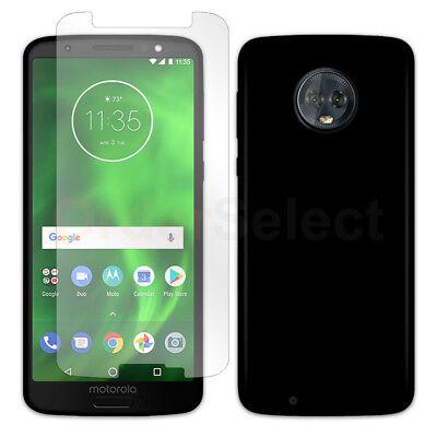 - Ultra Slim Plastic Phone Case BLACK+LCD Screen Protector for Motorola Moto G6