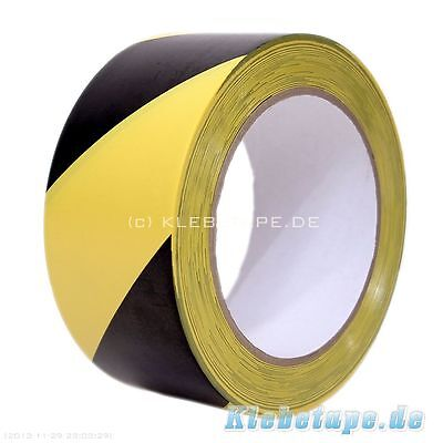 Signalband Warnband Klebeband 33m gelb schwarz selbstklebend Markierungsband