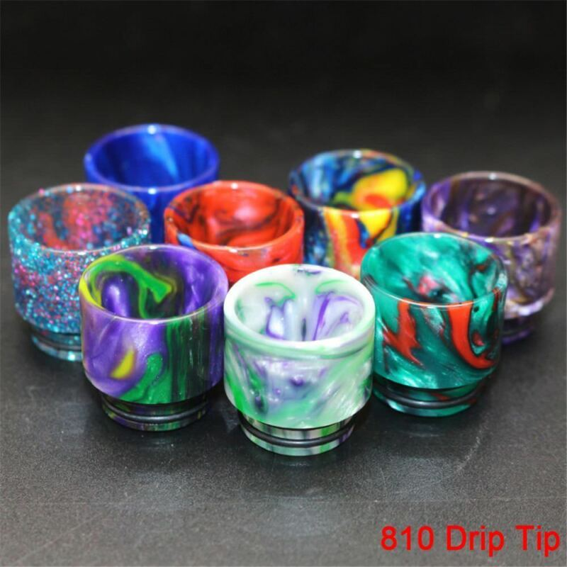 810 Drip Tip Epoxy TFV8 TFV12 Resin Mouthpiece Cap For Cloud Beast Big Baby CC