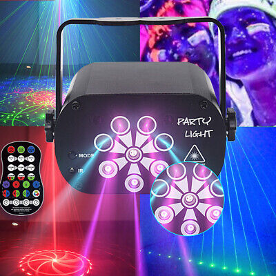 128 Patterns Sound Active Laser Stage Light LED RGB Party Disco Dance Lighting