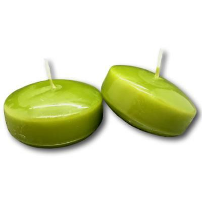 Floating Disk Round Candles Wedding Supplies Party Wax Olive Green 3