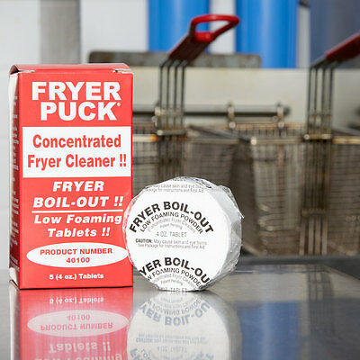 30-pack Commercial Restaurant 4 Oz. Deep Fat Fryer Cleaner Cleaning Tablets