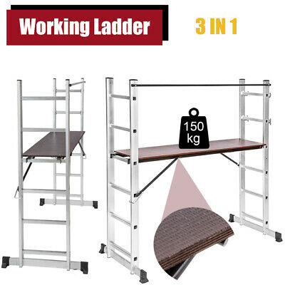 Scaffold Tower Working Ladder Step Platform Aluminium Folding Multi Purpose UK