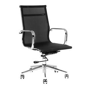 Executive Mesh Office Computer Chair Black North Melbourne Melbourne City Preview