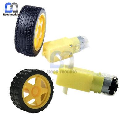 Dc 3-6v Mini Gear Motor And Smart Car Robot Plastic Tire Wheel For Arduino Robot
