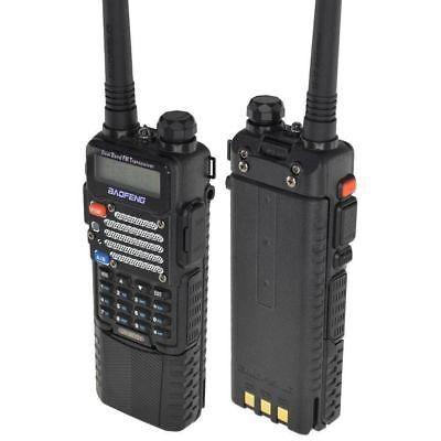 Baofeng Black UV-5R V2+ Dual-Band Ham Two-way Radio w/ 3800 mAh Extended Battery