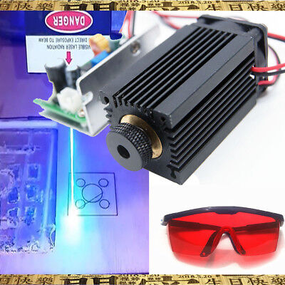 Focusable High Power 450nm 5w Blue Laser Module Ttl Carvingburning Gift Goggles
