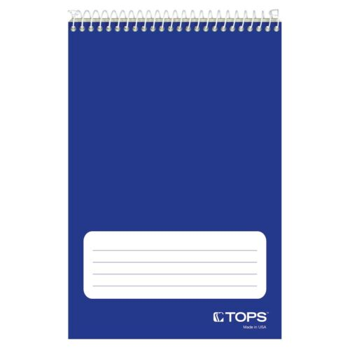 """TOPS™ Steno Books, 6"""" X 9"""", Gregg Rule, Green Tint Paper, 80 Sheets, 12 Pack"""