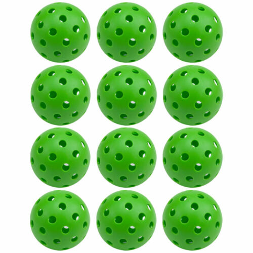 GSE Games & Sports Expert 40 Holes Outdoor Pickleball Balls - Green 12-Pack