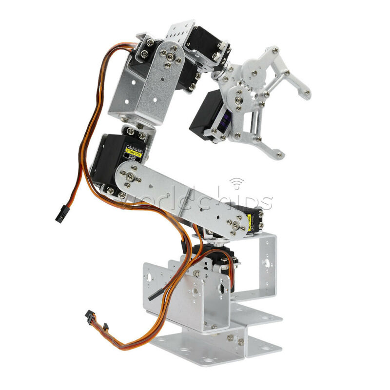 6DOF Mechanical Robot Arm Claw  Robotic Clamp Claw ROT3U DIY Kit Unassemble