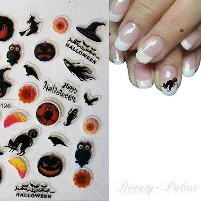 Halloween NailArt Sticker Aufkleber Karneval Nagelsticker Nageldesign TattooA126 ()