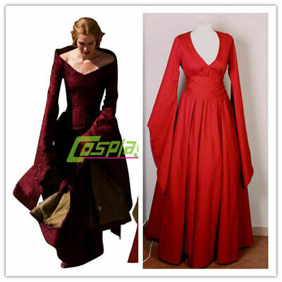 Game of Thrones Cosplay Cersei Lannister Red Renaissance Costume - Cersei Lannister Cosplay Kostüm