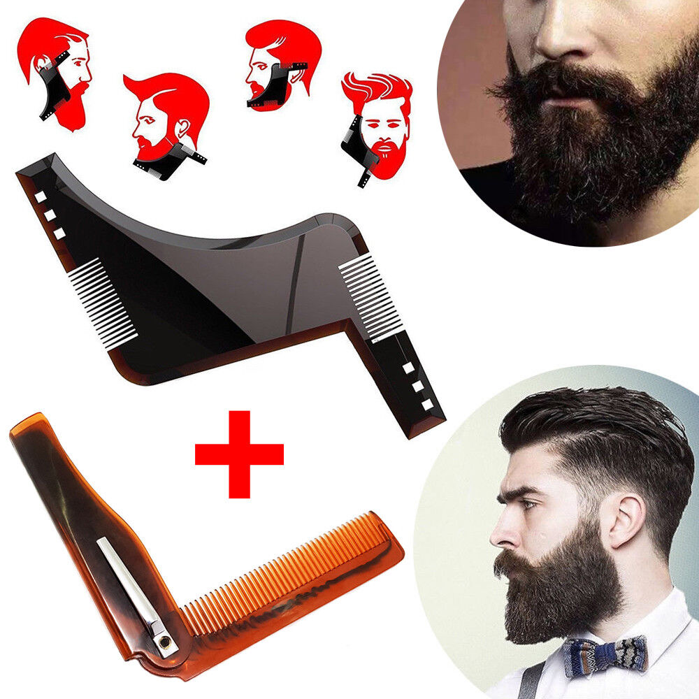 Set Regola barba modella barba + pettine basette beard shaper shaping per baffi