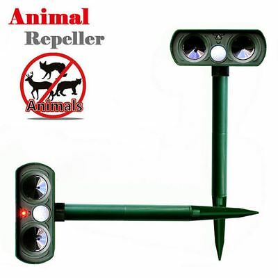2018 Hot Ultrasonic Solar Power Pest Animal Repeller Repellent Garden Cat Dog BA