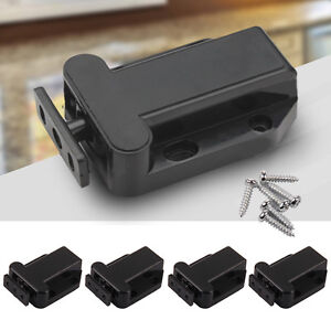4X Push To Open Drawer Cabinet Catch Touch Latch Release Kitchen Cupboard Doors