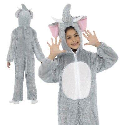Kinder Plüsch Elefant Overall Kostüm Buch Woche Tag Kostüm Outfit Med (Elefanten Kinder Kostüme)
