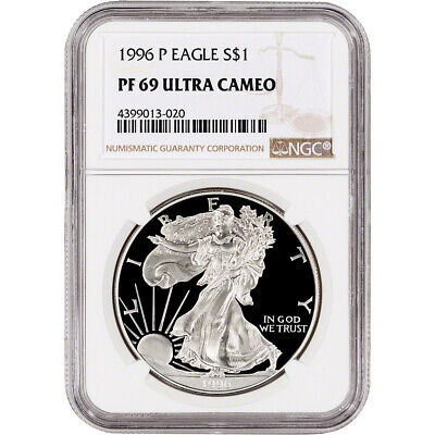 1996-P American Silver Eagle Proof - NGC PF69 UCAM