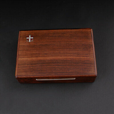 Wood Box, Inlaid Silver. Vintage. MADE IN DENMARK.1960s. FDF Logo. VERY RARE