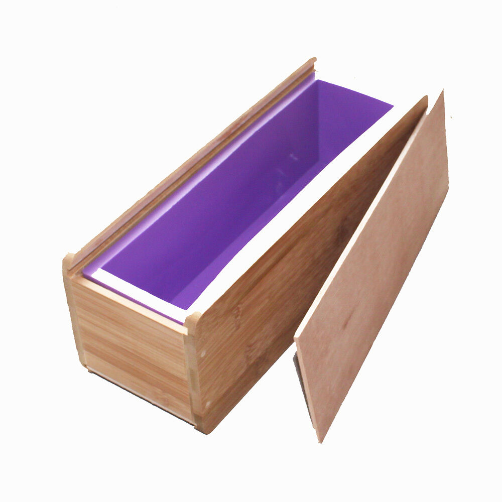 Flexible Silicone Liner Soap Loaf Mold for Cold Process Supplies Wooden Box