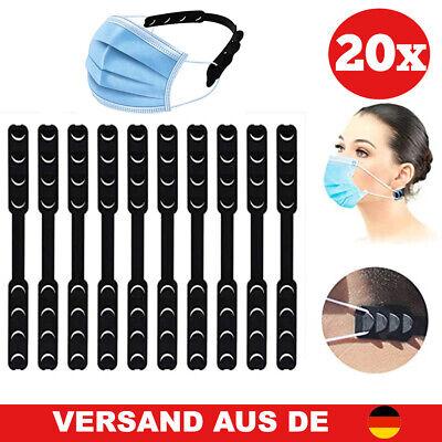 Maskenhalterung hinterkopf ohrenschutz ohrhaken maskenhaken in schwarz 20 stück