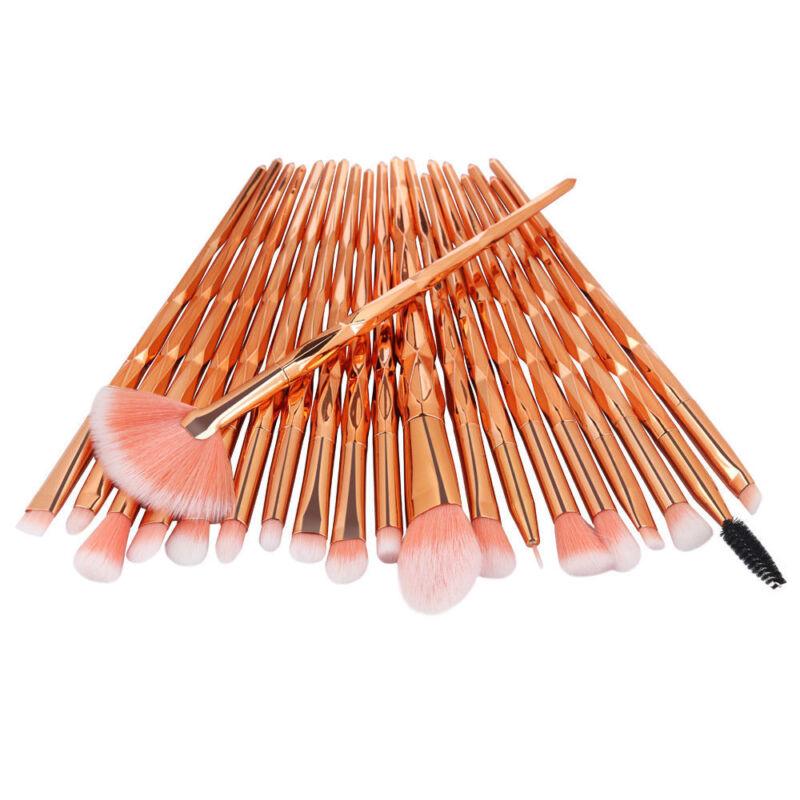 Unicorn Kabuki Makeup Brush Set Cosmetic Foundation Powder Brushes Tool Purple