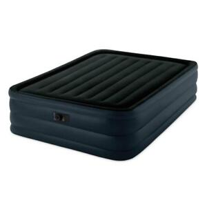 """NEW Intex Raised Downy Airbed with Built-in Electric Pump, Queen, Bed Height 22"""" Condition: New"""