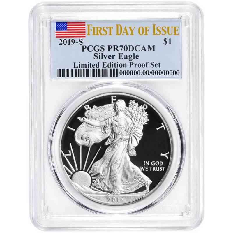 2019-S Limited Edition Proof Set $1 American Silver Eagle PCGS PR70DCAM FDOI Fla