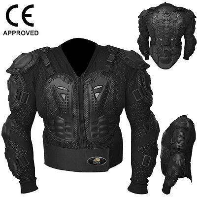 Motocross Motorbike Body Armour Motorcycle Protection Jacket Guard Black, Large