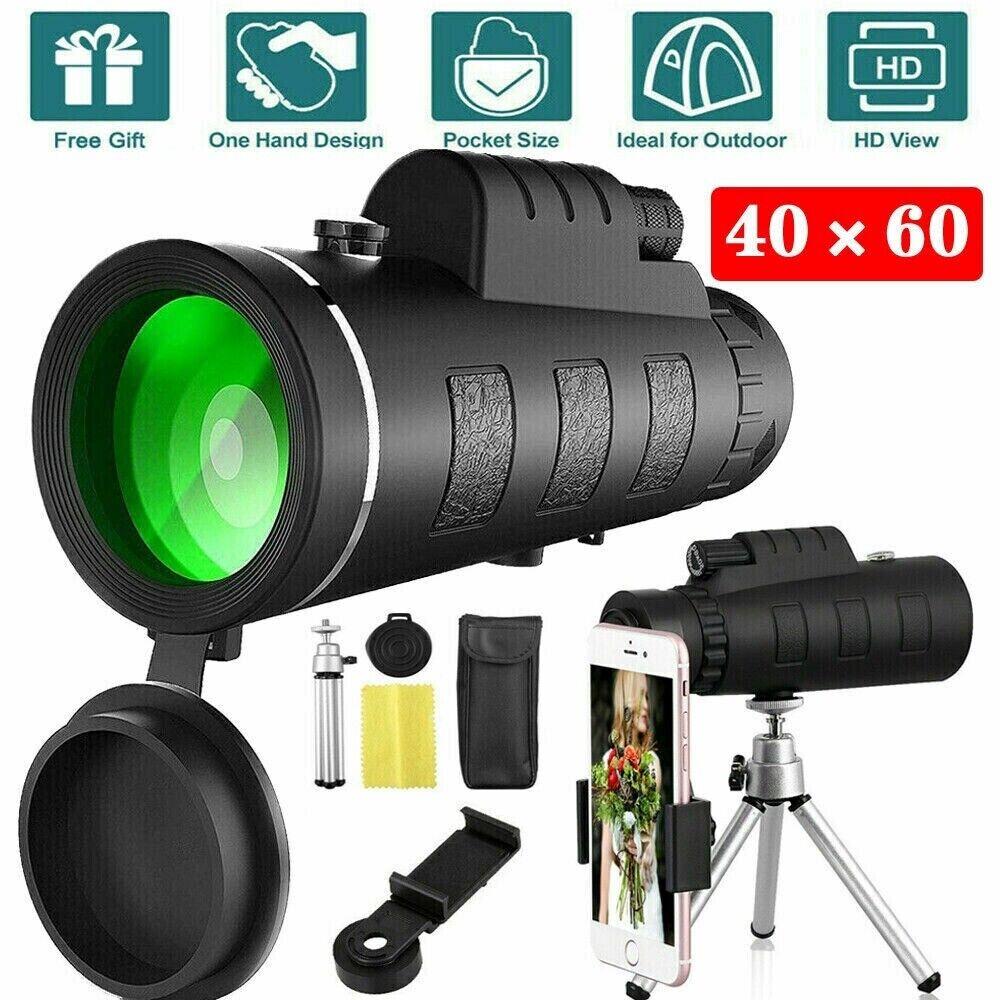 Telescopio Monocular Ultra High Power 40X60 Portable HD Night Vision Waterproof Monocular