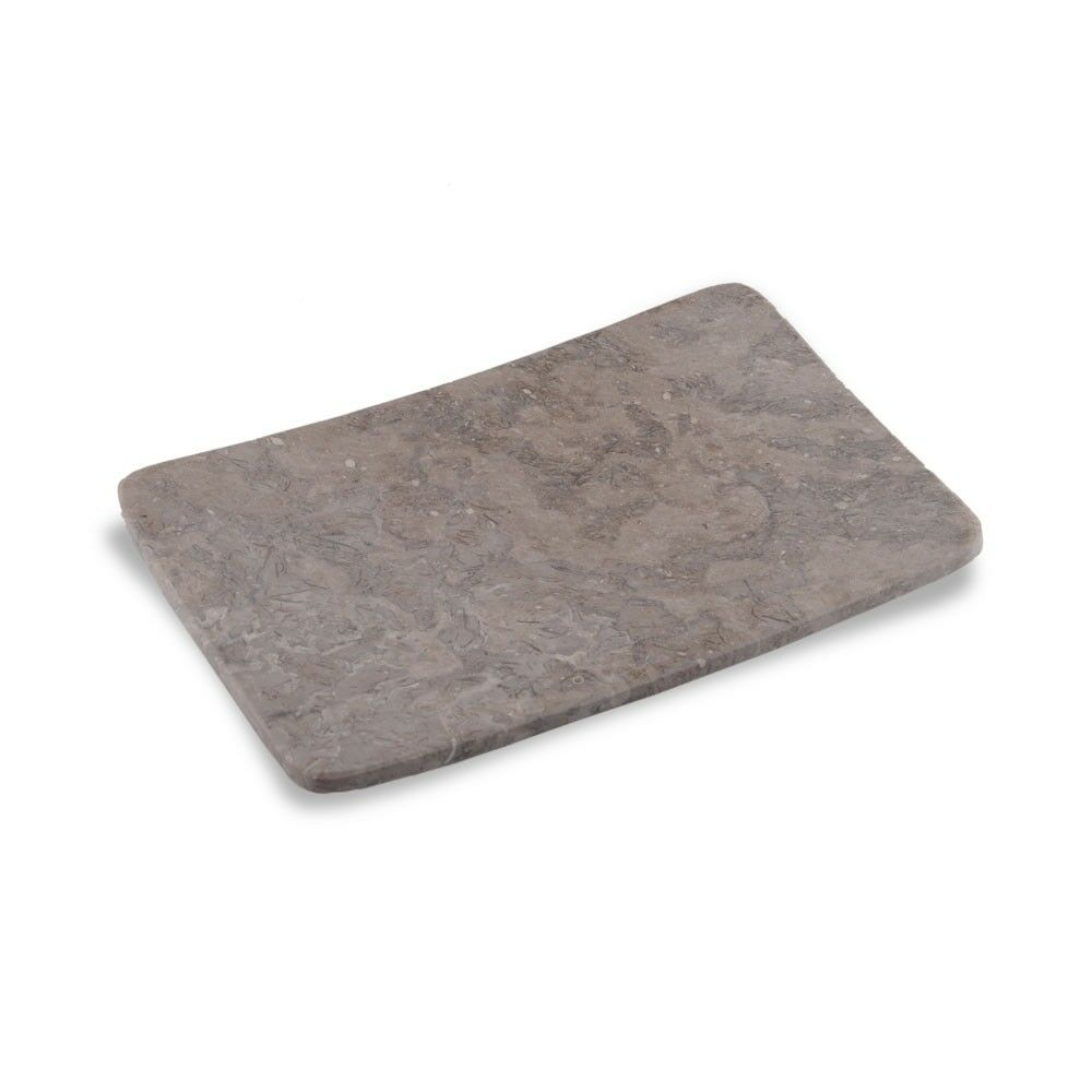 wohnfreuden Marmor Handtuch-Platte 18x12x2cm Stein Seifen-Schale ZEN grau Ablage
