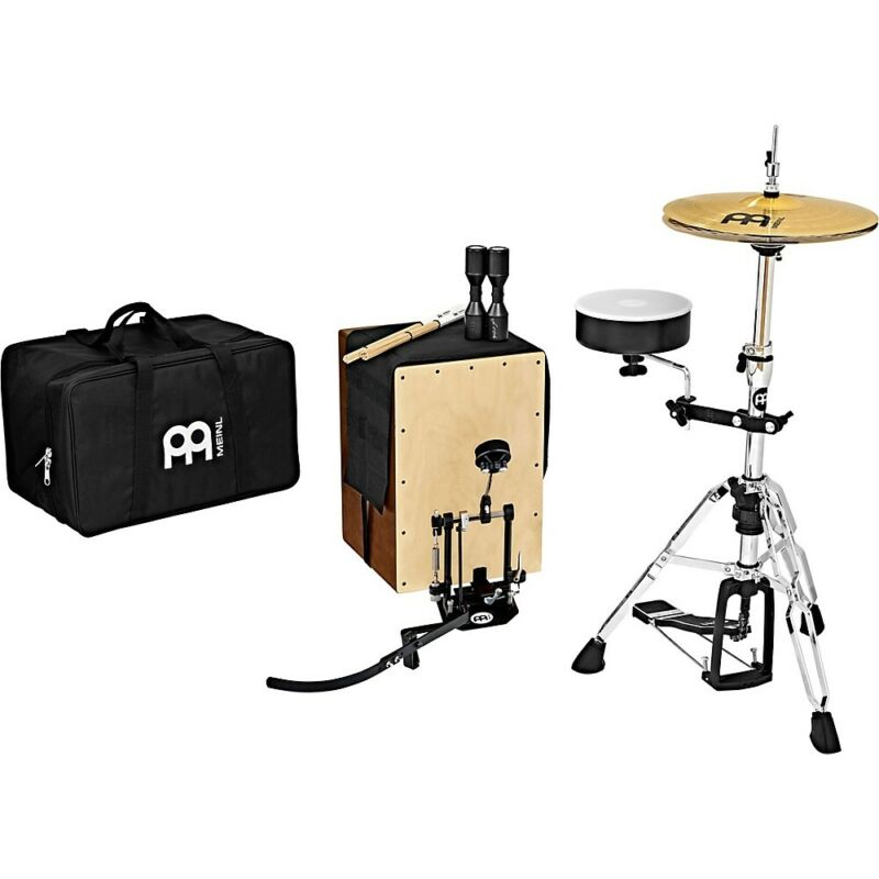 Meinl Cajon Drum Set with Cymbals and Direct-Drive Pedal  LN