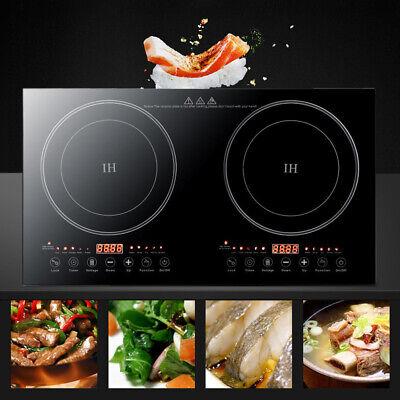 Cocina eléctrica portátil de doble inducción Placa de cocina 4400W encimera DHL