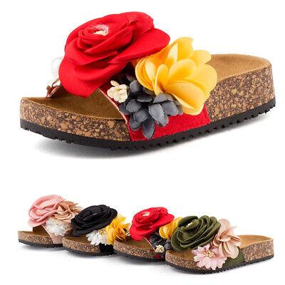 Mädchen Pantoletten Sandaletten Blumen 1916 Schuhe Gr. 24-35 (Blumenmädchen Sandalen)