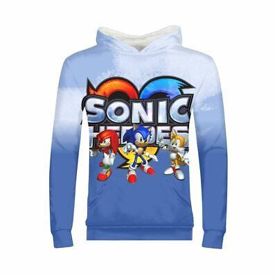 The Hedgehog Sonic Kids Boys Girls Long Sweatshirt Tops Hooded Jumpers Hoodies](Sonic Girls)
