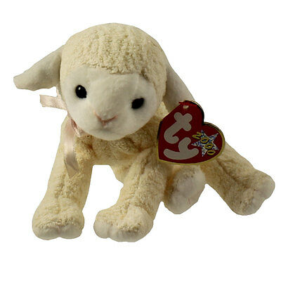 TY Beanie Baby - FLEECIE the Lamb (6 inch) - MWMTs Stuffed Animal Toy