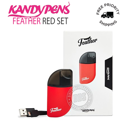 NEW KandyPens Feather Kit in Red 100% Authentic + Free Priority 1-3 Shipping