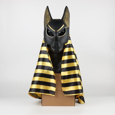 Halloween Egyptian Anubis Mask Cosplay Wolf Masquerade Mask Party Props PVC - Wolf Halloween Mask