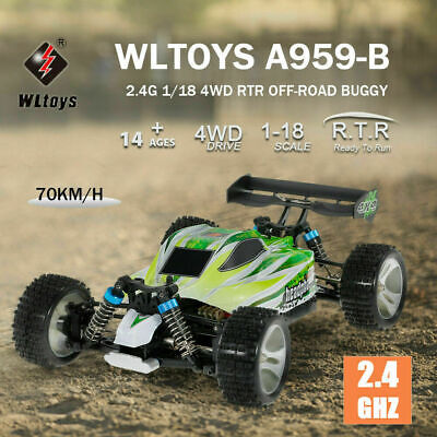 WLtoys A959-B 1:18 70KM/H High Speed RC Auto Offroad Buggy Truck Racing Race Car