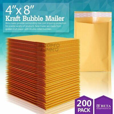 200 000 4 X 8 Kraft Bubble Padded Envelopes Mailers Shipping Bag 4x8