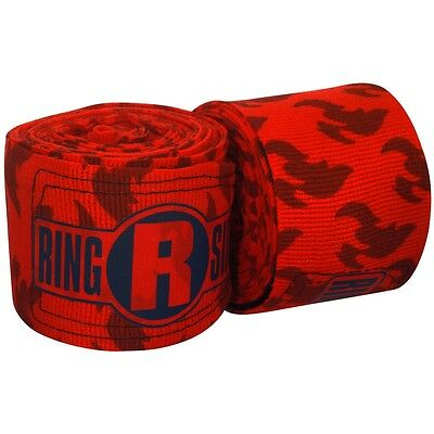 "New Ringside Apex Kick Boxing MMA Handwraps Hand Wrap Wraps 180"" - Fire Flames"