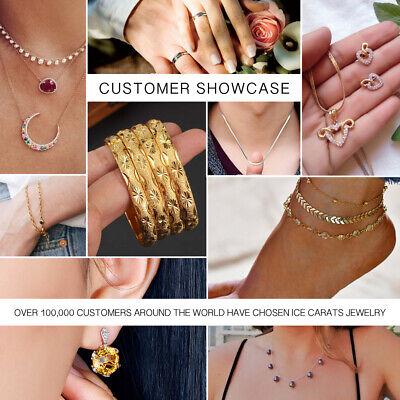 14k Yellow Gold Multi Gemstone Link Bracelet Fine Jewelry Women Gifts Her 7