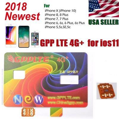 Gpp Lte Unlock Sim Card For Iphone X Iphone 8 8Plus Iphone 7 6 5 5S Ios 11 4