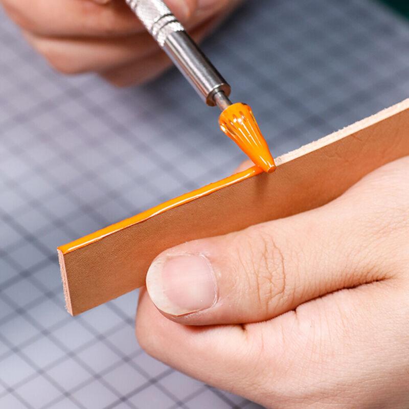 Leather Craft Top Edge Dye Applicator Pen Belt Edge Oil Paints Roller Tool Craft