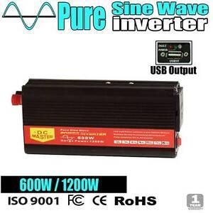 Pure Sine Inverter 600w-1200w caravan camping power battery con Wangara Wanneroo Area Preview