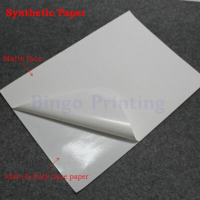 Waterproof Polymer Paper Synthetic Paper Blank Sticker For Laser Printer X 50