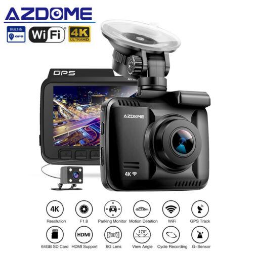 AZDOME GS63H 4K 2160P WiFi Dash Cam Car DVR GPS Night Vision