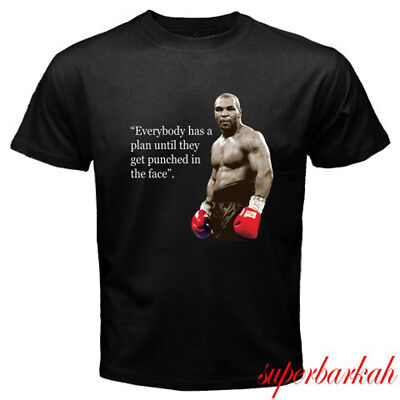 New Iron Mike Tyson Quote Boxing Champion Mens Black T Shirt Size S 3Xl
