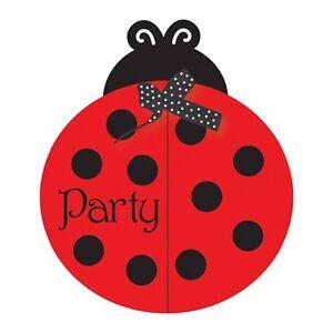 25 ladybug birthday baby shower party invite invitations cards plus envelopes