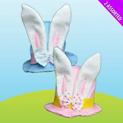 Easter Bunny Rabbit Top Hat Bonnet Decor Mad Hatter White Ears Accessory
