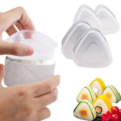 Japanese Onigiri Rice Ball - Japanese Triangle Sushi Mold Onigiri Rice Ball Roll Food Press Maker 4pcs/Set